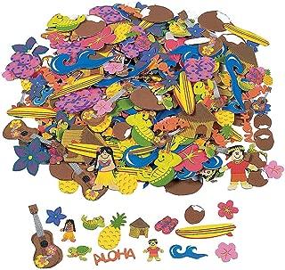 Fun Express - Fabulous Foam Adhesive Luau Foam Shapes - Craft Supplies - Foam Shapes - Regular - 500 Pieces