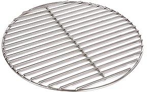 Massiver Grillrost Durchmesser 40 cm aus Edelstahl rostfrei und elektropoliert 6 mm für Grill rund, Kugelgrill, Feuerschalen Grillschalen Rundgrill