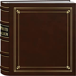 Pioneer BL-200/T Photo Albums 200-Pocket Ring Bound Tan Bonded Leather with Gold Accents Cover Photo Album for 4 x 6-Inch ...
