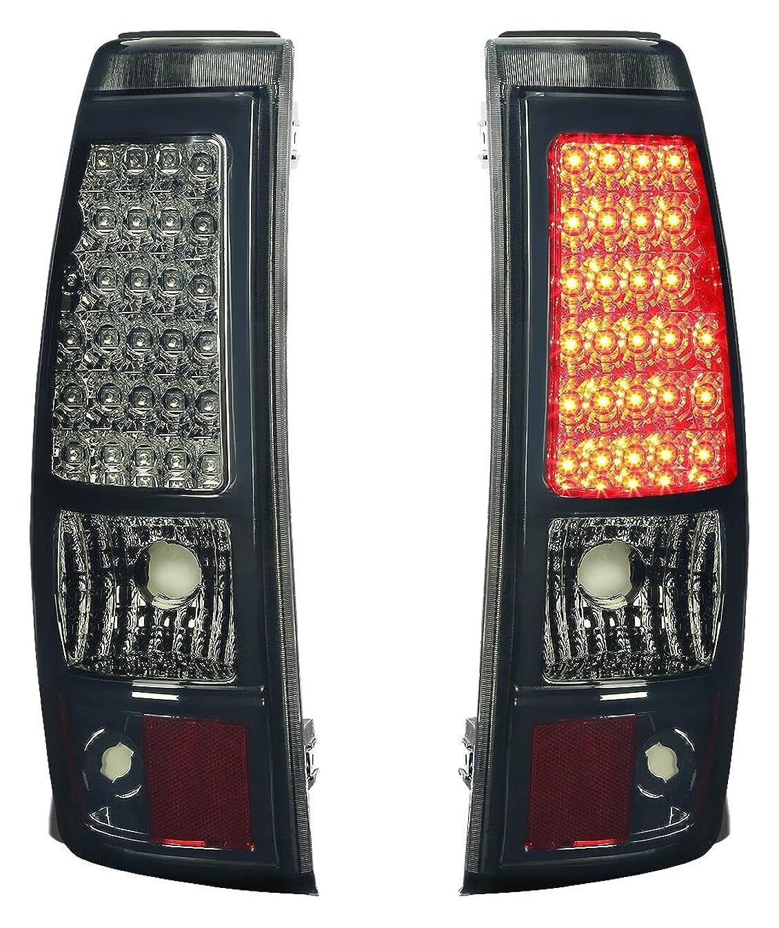 DNA Motoring TL-CSIL03-LED-CH-SM Tail Brake Lights, Driver and Passenger Side