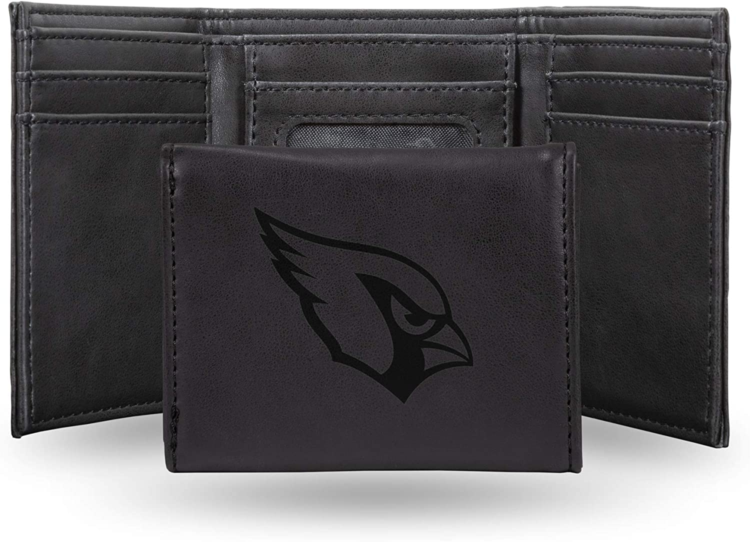NFL Rico Industries Laser Engraved Trifold Be super welcome Wallet Arizona Cardi Popular product