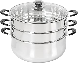 30 CM Stainless Steel 3 Tier Steamer Pot Steaming Cookware by Concord