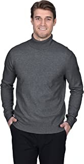 Men's Turtleneck Sweater Cashmere Merino Wool Long Sleeve Roll Neck Pullover