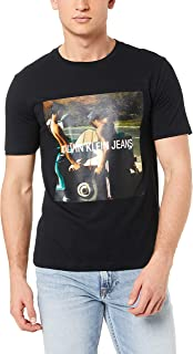 Calvin Klein Jeans Men's Photo S/Board Institutional Tee, Ck Black/Road Graphic, S
