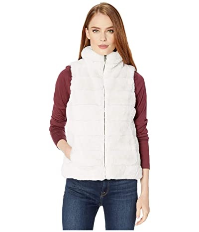 Dylan by True Grit Faux-Fur Love Vest with Matching Lining (Vintage White) Women