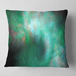 Designart Perfect Clear Blue Starry Sky' Abstract Throw Living Room, Sofa, Pillow Insert + Cushion Cover Printed On Both S...