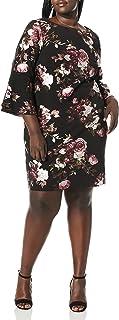 فستان ضيق بأكمام جرس للنساء من Jessica Howard مقاس كبير