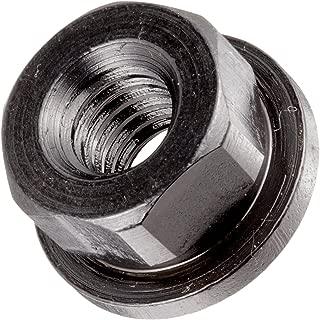 12L14 Steel Flange Nut, Non-Serrated, Black Oxide Finish, 3/8