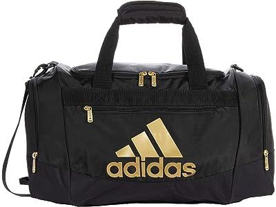 adidas Defender 4 Small Duffel Bag (Black/Gold) Handbags