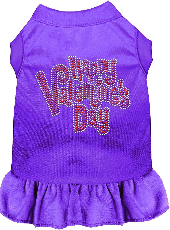 Mirage Pet Products 5756 XLPR Purple Happy Valentines Day Rhinestone Dress, XLarge