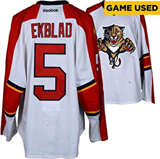 Aaron Ekblad Florida Panthers Game-Used #5 White Set 3 Jersey from the 2015-16 NHL Season - Size 58 - Fanatics Authentic Certified