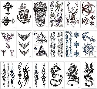Konsait 18 Blätter temporär Tätowierung schwarz Tattoo K�
