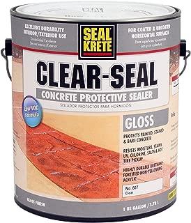 Seal-Krete 607001 Clear-Seal Low VOC Gloss Concrete Protective Sealer, Gallon, Clear