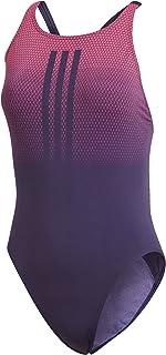 adidas Performance 3-Streifen Placed Print dames Zwempak uit één stuk