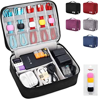 Electronic Organizer Large Travel Cable Organizer Bag Electronic Accessories Storage Case for Hard Drives, Cables, Phone, ...