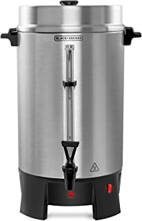 Black+Decker CMU1000 Precoladora de Café Black + Decker de Acero Inoxidable con Capacidad para 100 Tazas, color, Plateado,...
