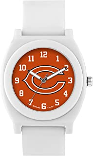 Game Time Women's 'Fan' Quartz Plastic and Rubber Casual Watch, Color:White (Model: NFL-FNW-CHI)