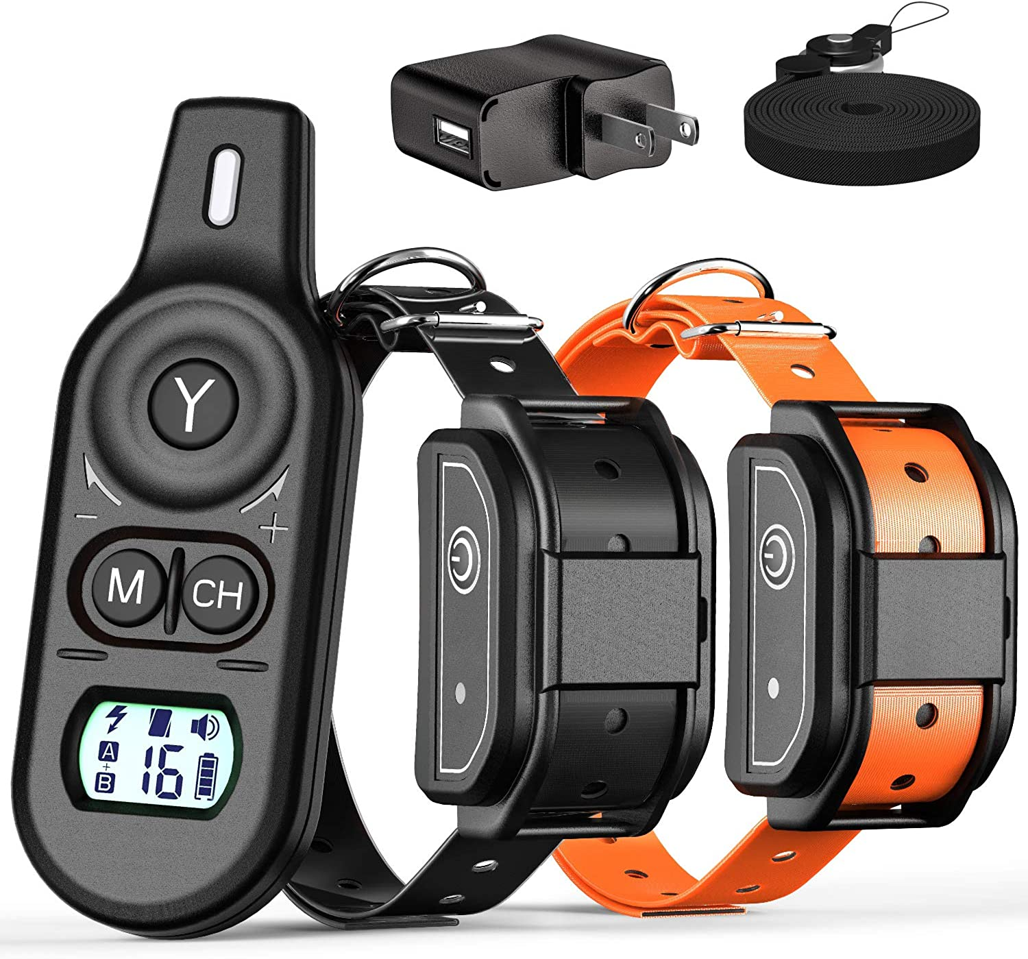 Fcolor Dog Training Collar, 2019 Updated 3 Channels Shock Collar for Dogs with 2600ft Remote, Beep Vibration Shock 3 Modes Fully Waterproof Dog Shock Collar for Small Medium Large Dogs