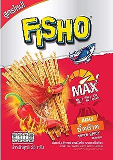 Fisho Brand, Fisho Fish Snack Super Spicy Flavour 25g X 6 Packs