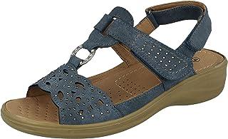 Cushion Walk Womens Beige Leather Casual Bar Shoe Sizes 3,4,5,6,7,8