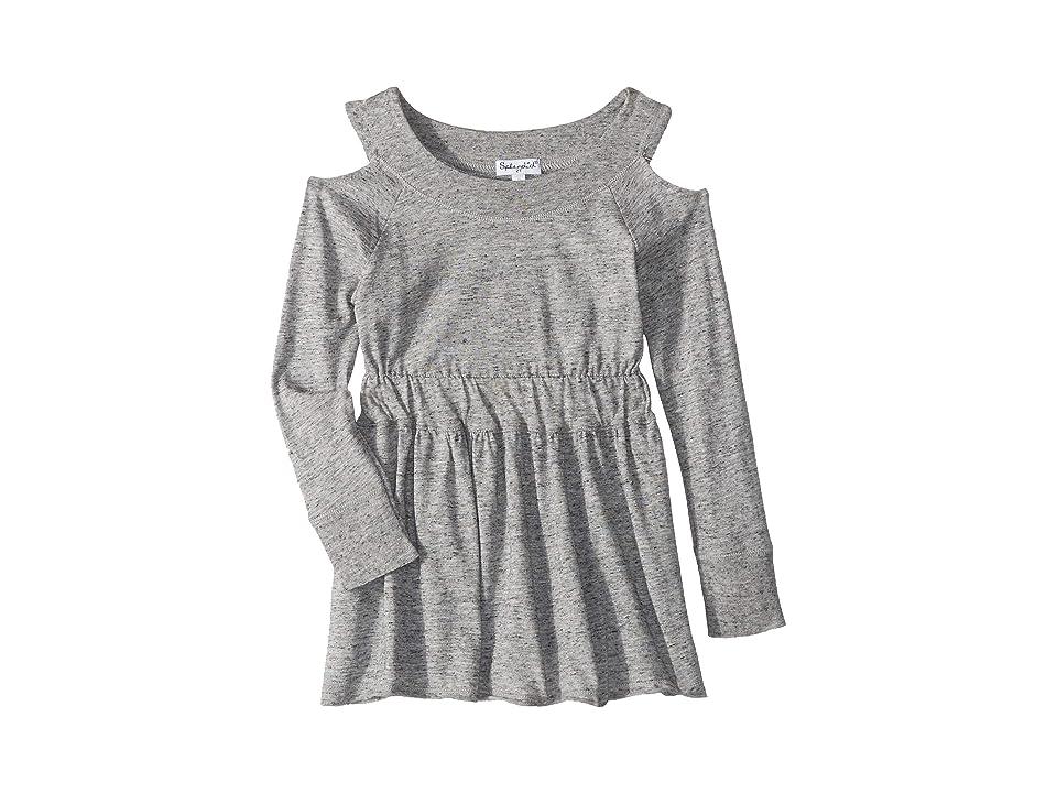 Splendid Littles Cold Shoulder Dress (Toddler) (Marled Grey) Girl