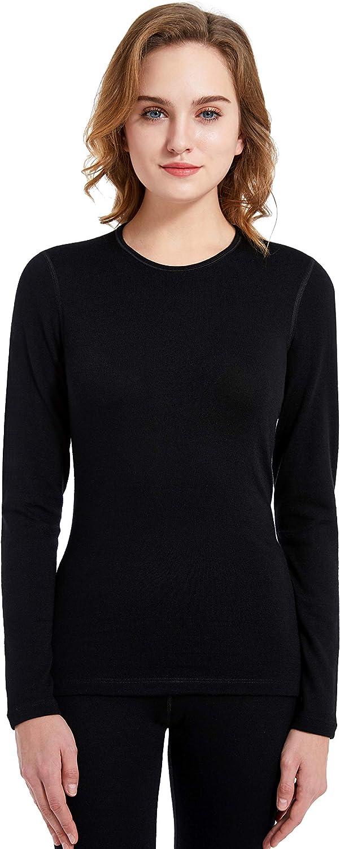 Eizniz Naturwool Women's 100% Merino List price Max 81% OFF Tops Therma Wool Base Layer