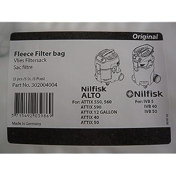 geeignet Nilfisk ATTIX 50-01 PC 10x Staubsaugerbeutel Prof