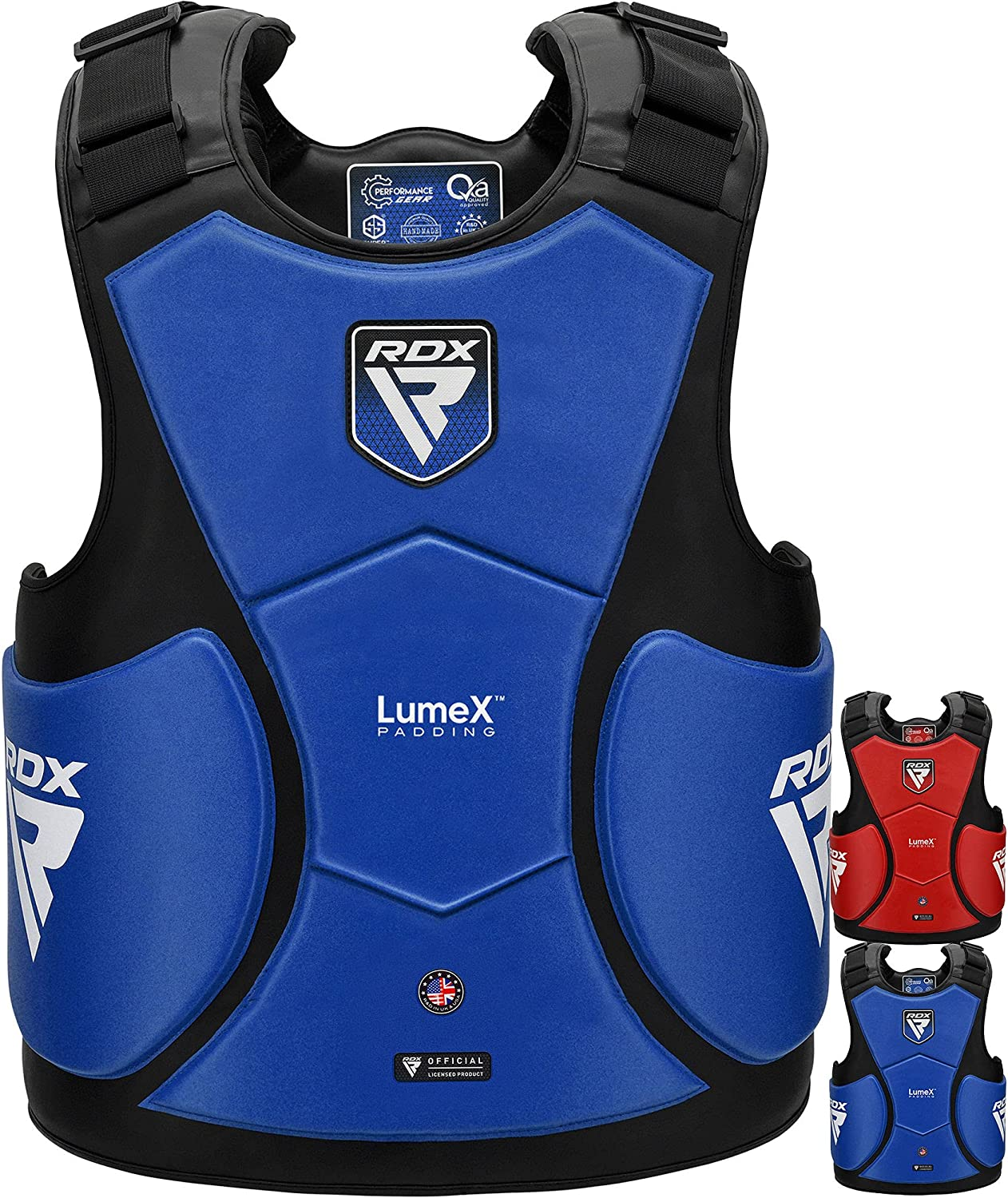 RDX Chest Guard Limited price sale Boxing MMA Training Hide Maya Leather New sales LumeX Pad