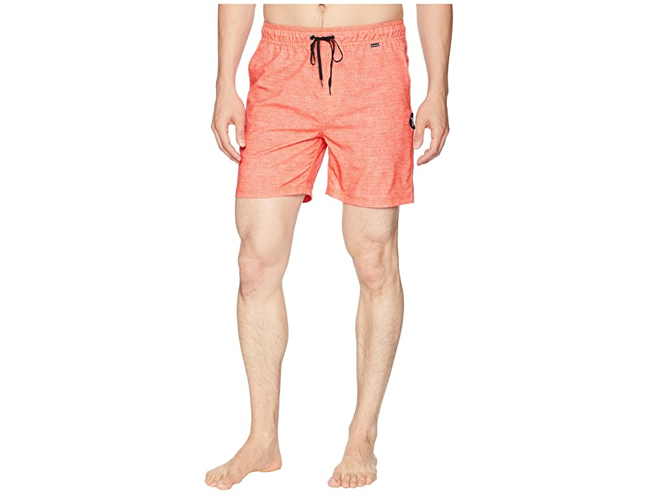 Hurley Heather Volley Shorts 17 (Rush Coral) Men