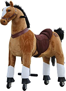 Medallion - My Pony Ride On Real Walking Horse for Children 5 to 12 Years Old or Up to 110 Pounds (Color Medium Brown Horse) for Boys and Girls