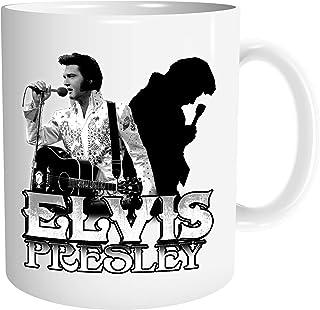 Uglyshirt89 Elvis Presley Tasse | Kaffeetasse Teetasse Geschenk Rockabilly The King Musik Vintage | M1