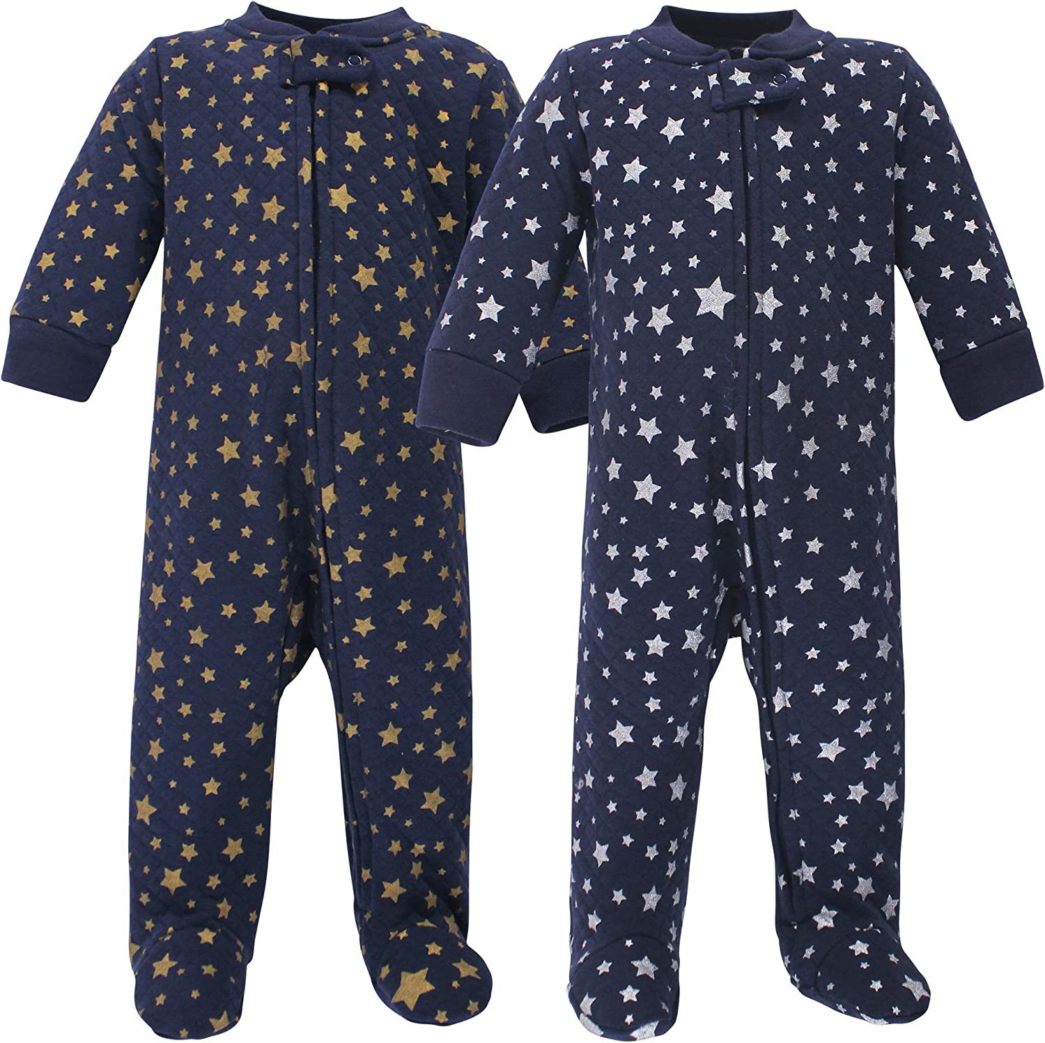 Hudson Baby Unisex Baby Premium Quilted Zipper Sleep and Play