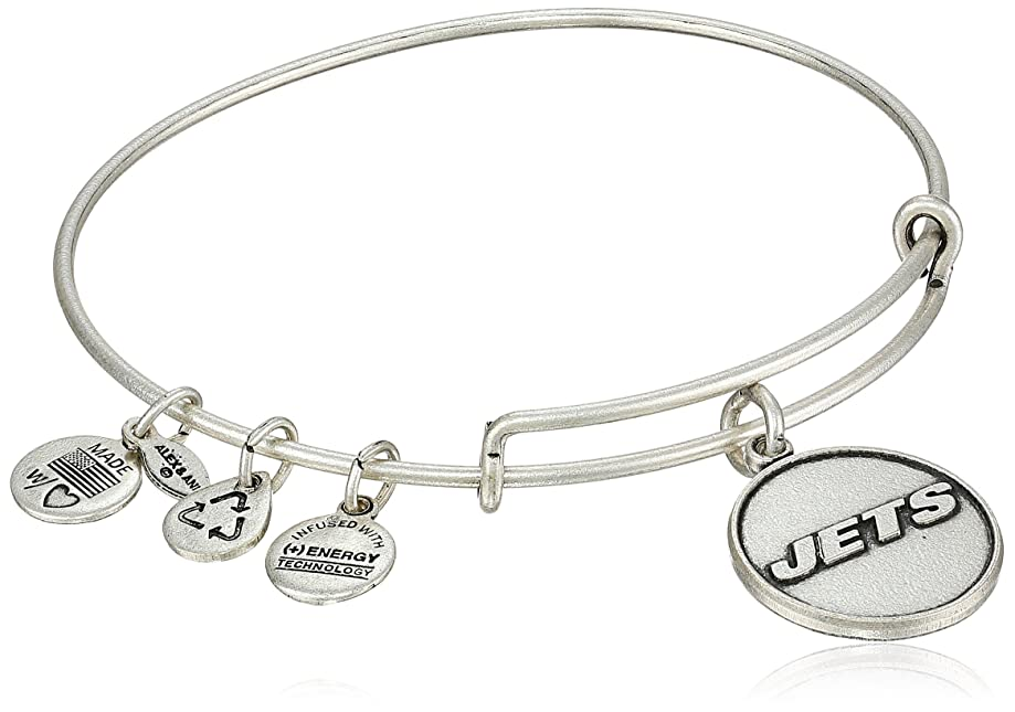 Alex and Ani Women's New York Jets Logo Charm Bangle