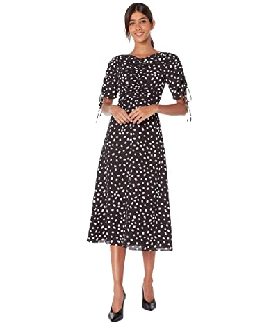 Kate Spade New York Mallow Dot Midi Dress (Black) Women