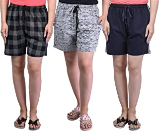 69GAL Women's Cotton Shorts Pack of 3