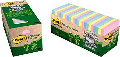 Post-it Greener Notes Helsinki Collection 76mm x 76mm 654R-24CP-AP (Pack of 24)