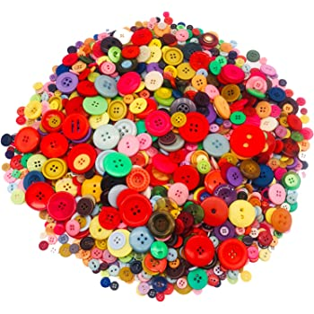 1000pcs Round Button Mixed Colour Size Craft Children Creative Toys Activities