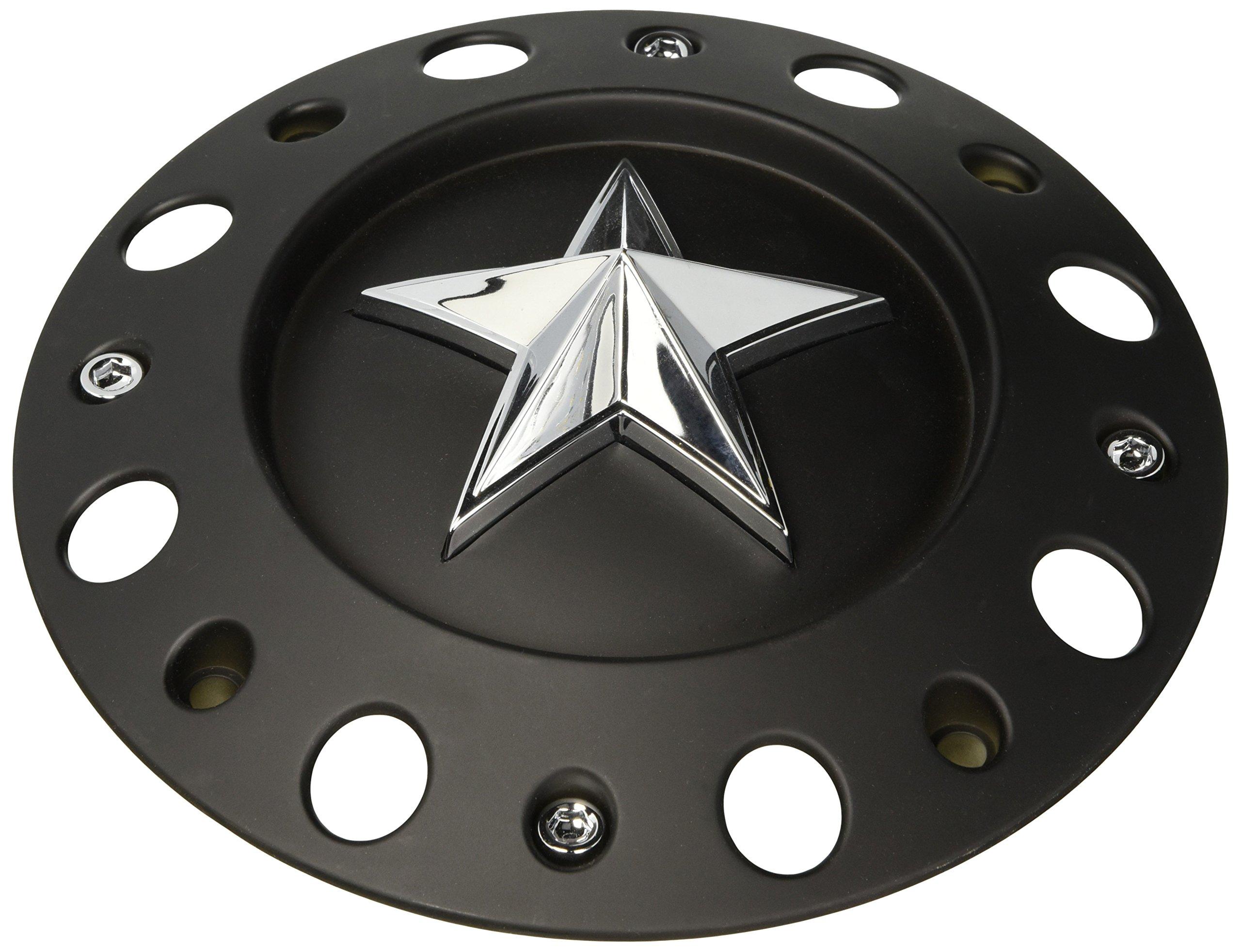 KMC XD Series 811 Rockstar 2 Matte Black w Black Star Center Cap SC-198 SC-190