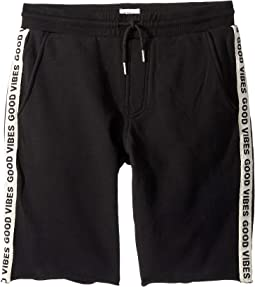 Good Vibes Shorts in Black Rip (Big Kids)