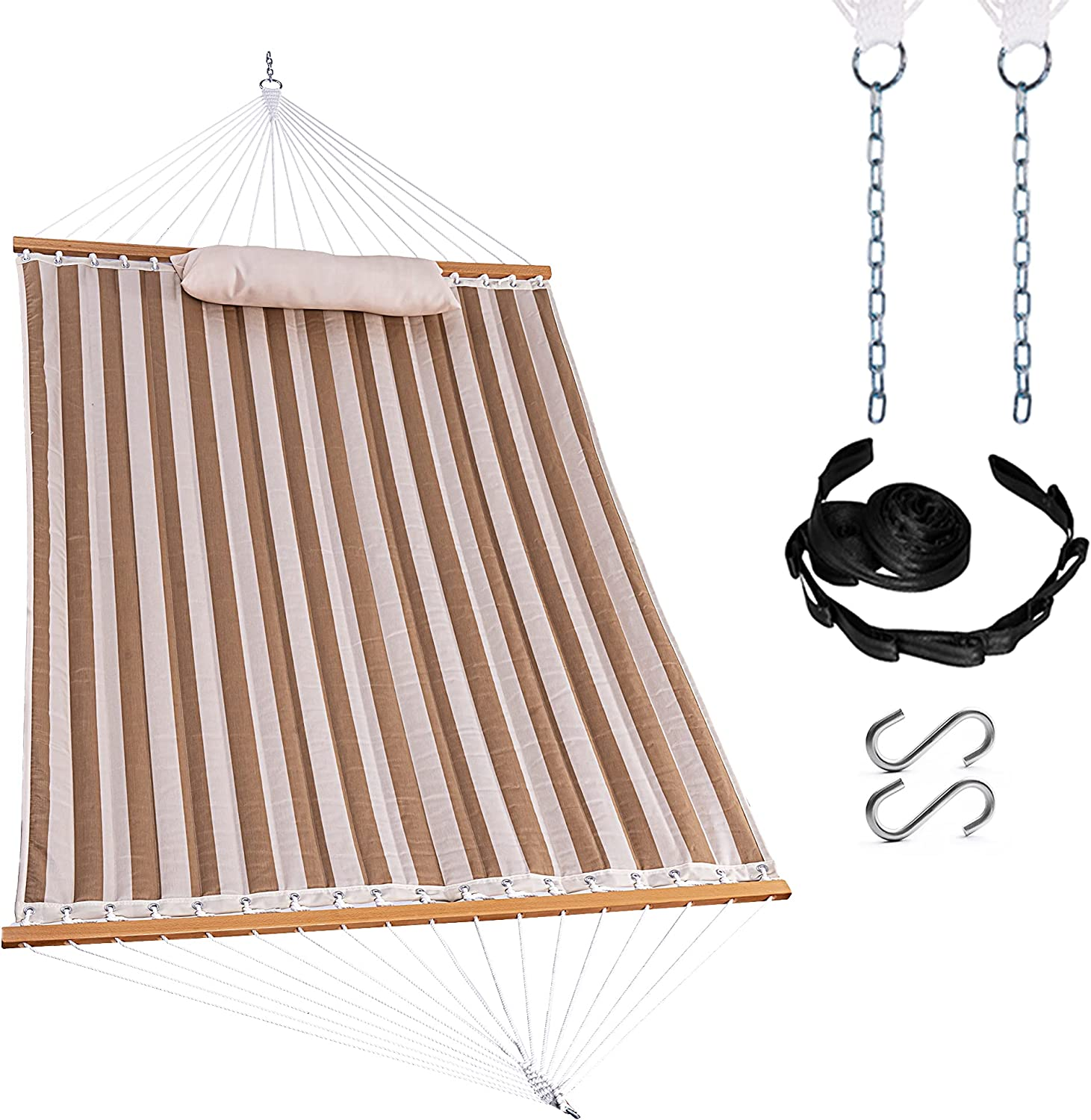 Harbourside Manufacturer regenerated product Quilted Fabric Hammock with Spreader Max 87% OFF Double