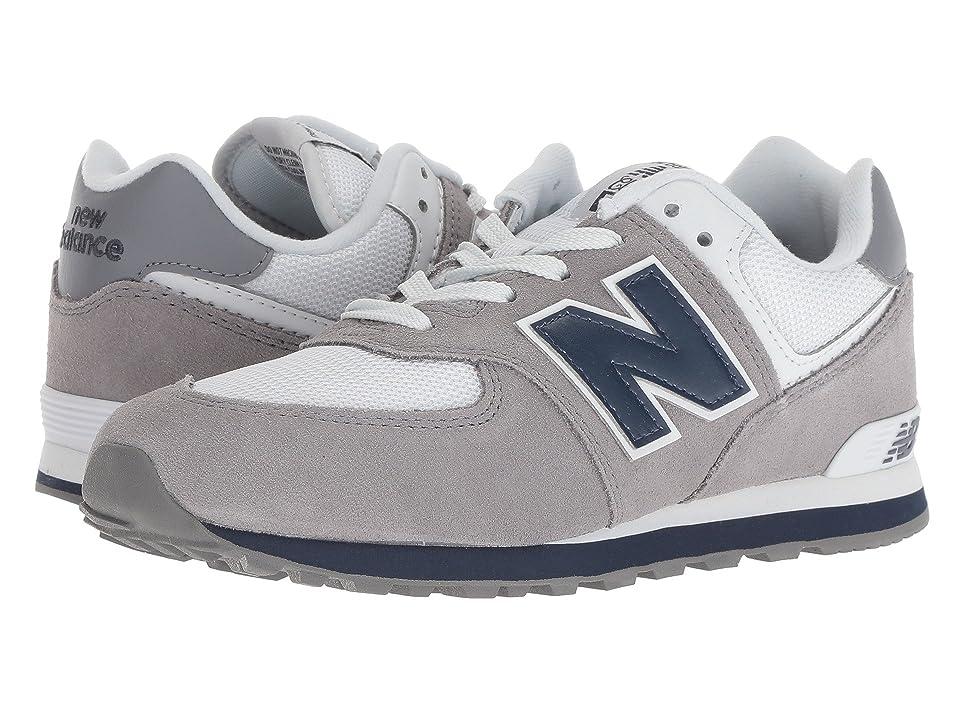 New Balance Kids GC574v1 (Big Kid) (Grey/Navy) Kids Shoes