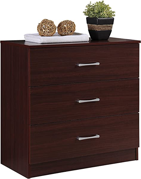 Hodedah HI3DR 3 Mahogany Chest Of Drawers