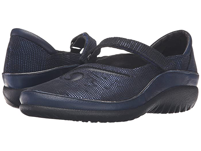 Naot  Matai (Ink Leather/Navy Reptile Leather) Womens Maryjane Shoes