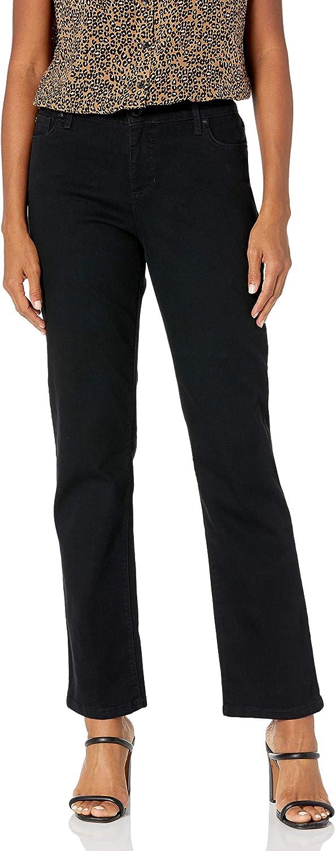 Bandolino Women's Mandie Signature Fit 5 Pocket High Rise Straight Jean