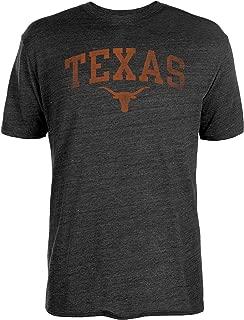 NCAA Texas Longhorns Mens Worn Interlock Tri-Blend Short Sleeve Tee, Black, Small