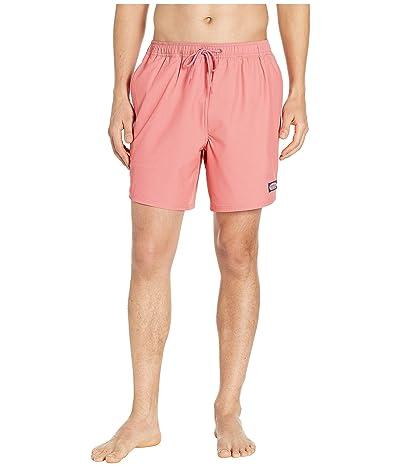 Vineyard Vines Fine Line Stripe Chappy Swim Shorts (Jetty Red) Men