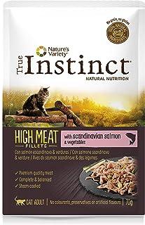 True Instinct High Meat Adult - Nature's Variety - Filetes con Salmón para Gatos 70gr - Pack de 8