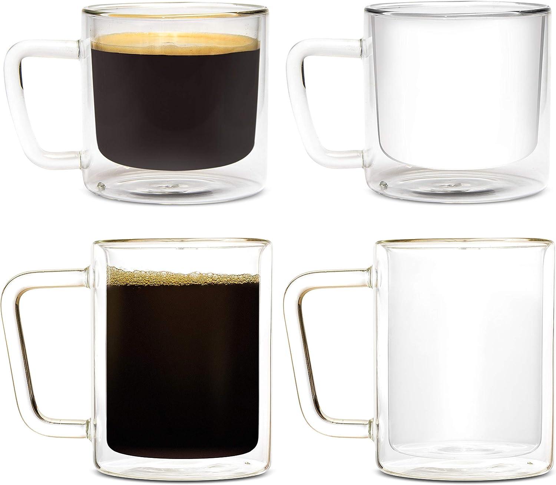 Regular discount Eparé Bundle: 12oz Set of 2 Mugs Fort Worth Mall Retro Coffee Large L