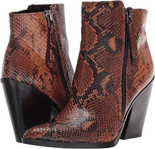 Tan Snake Print Leather
