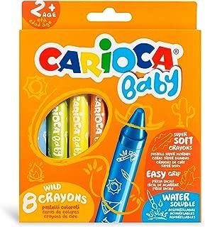 Carioca Jumbo Bebek Elleri Kirletmeyen Pastel Boya Kalemi 8'Li 2 Yaş+